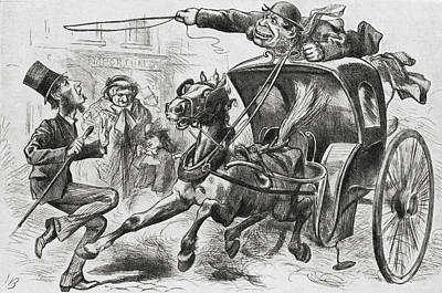 The Cab Fiend Of London. A 19th Century Poster