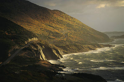 The Cabot Trail Winds Its Way Poster