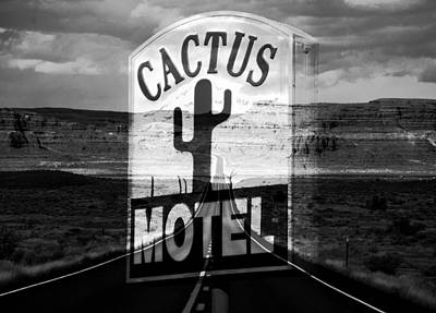 Poster featuring the photograph The Cactus Motel by David Lee Thompson