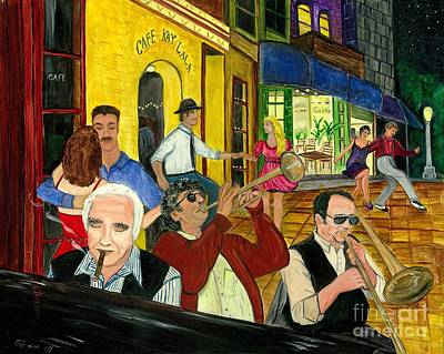 Poster featuring the painting The Cafe by Gail Finn