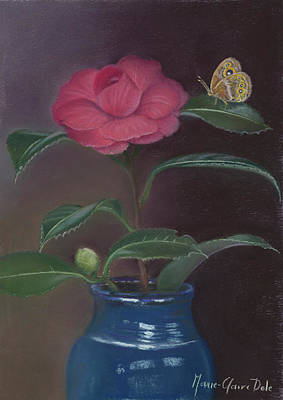 The Camellia And The Butterfly Poster