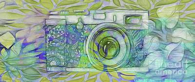 Poster featuring the digital art The Camera - 02c5b by Variance Collections