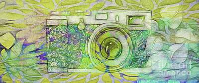 Poster featuring the digital art The Camera - 02c5bt by Variance Collections
