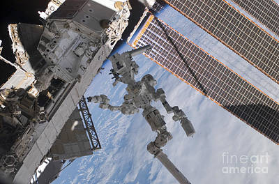 The Canadian-built Dextre Robotic Poster by Stocktrek Images