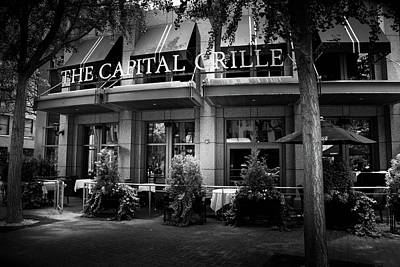 The Capital Grille In Black And White Poster