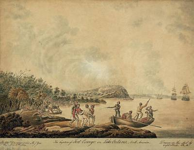 The Capture Of Fort Oswego On Lake Poster