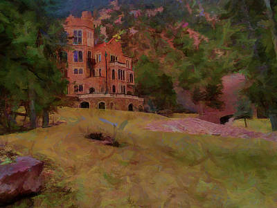 Poster featuring the digital art The Castle by Ernie Echols