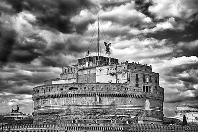 The Castle Of Sant'angelo In Rome Poster