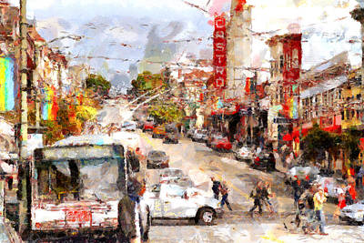 The Castro In San Francisco . 7d7573 Poster by Wingsdomain Art and Photography