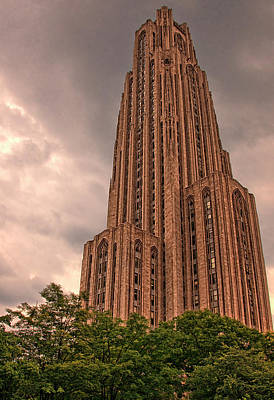The Cathedral Of Learning - Pittsburgh Poster by Mitch Spence