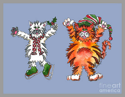 The Cats Of Winter Poster by Shelley Wallace Ylst