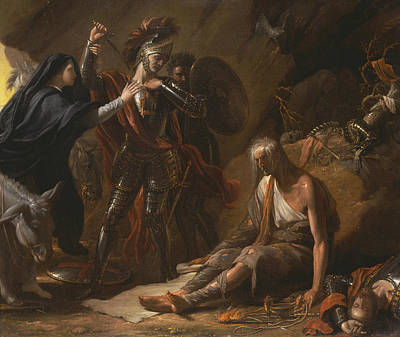 The Cave Of Despair Poster by Benjamin West