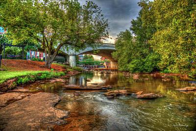 The Center Of Town Reedy River Falls Park Greenville South Carolina Art Poster