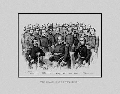 The Champions Of The Union -- Civil War Poster by War Is Hell Store