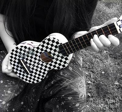 The Checkered Uke Poster by Steven  Digman