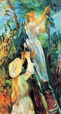 The Cherry Tree Poster by Berthe Morisot
