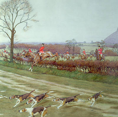 The Cheshire Away From Tattenhall Poster by Cecil Charles Windsor Aldin