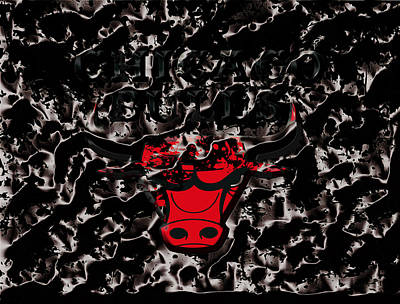 The Chicago Bulls 3e Poster by Brian Reaves