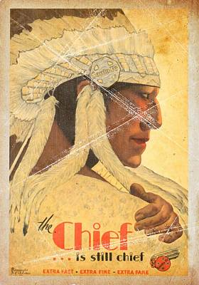 The Chief Train - Vintage Poster Folded Poster