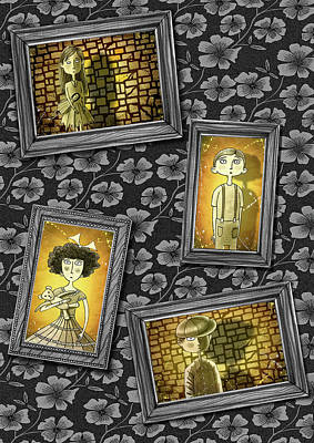 The Children In The Photographs              Poster by Andrew Hitchen