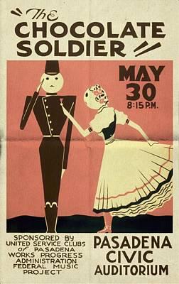 The Chocolate Soldier - Vintage Poster Folded Poster