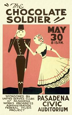 The Chocolate Soldier - Vintage Poster Restored Poster