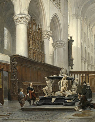 The Choir Of The Church Of Our Lady In Breda With The Tomb Of Engelbert II Of Nassau Poster