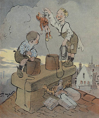 The Christmas Of Little Scoundrels Poster by French School