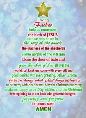 The Christmas Prayer Poster by Dan Sproul