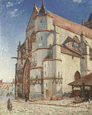 The Church At Moret In Morning Sun Poster by Celestial Images