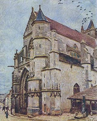 The Church At Moret In Winter Poster by MotionAge Designs