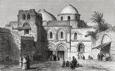 The Church Of The Holy Sepulchre In The Poster by Vintage Design Pics