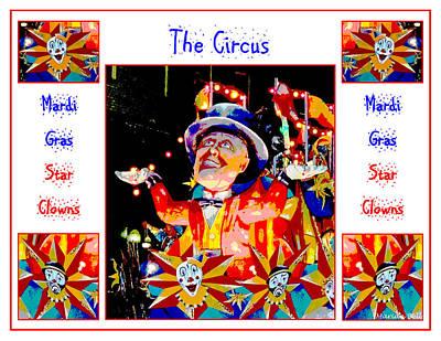 The Circus - Mardi Gras Star Clowns Poster