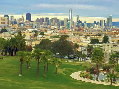The City From Dolores Park Poster