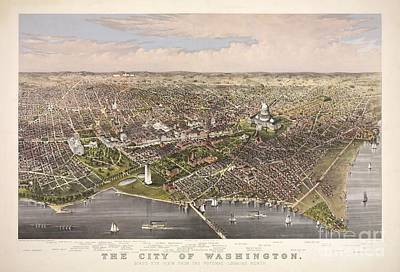 The City Of Washington Poster by Charles Richard Parsons