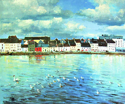 The Claddagh Galway Poster by Conor McGuire