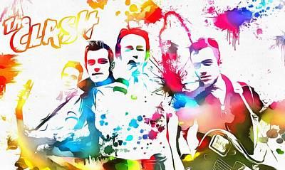 The Clash Paint Splatter Poster