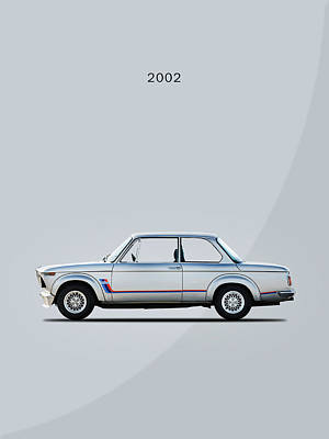 The Classic Bmw 2002 Poster by Mark Rogan