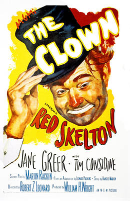 The Clown, Red Skelton, 1953 Poster by Everett