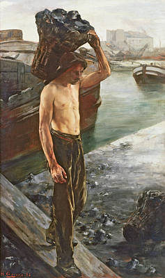 The Coal Carrier Poster by Henri Gervex