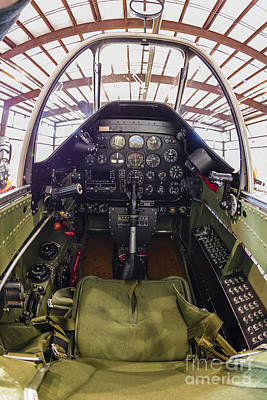 The Cockpit Of A P-51 Mustang Poster