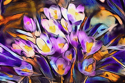 The Colors Of Crocus Poster