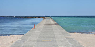 Poster featuring the photograph The Colors Of Lake Michigan by Fran Riley