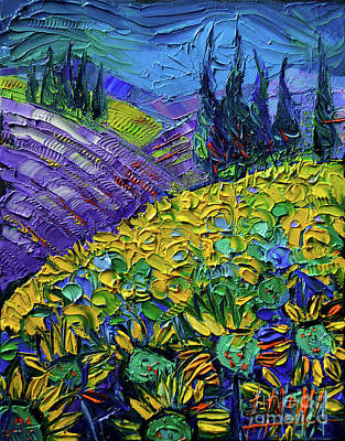 The Colors Of Provence Modern Impressionist Impasto Palette Knife Oil Painting Poster