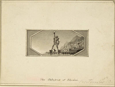 The Colossus Of Rhodes Poster by Edward Francis Burney