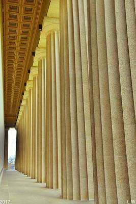 Poster featuring the photograph The Columns At The Parthenon In Nashville Tennessee by Lisa Wooten