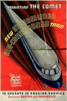 The Comet New Haven Train - Folded Poster