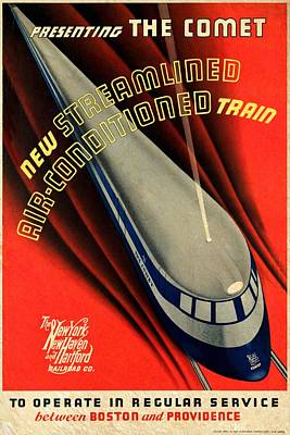 The Comet New Haven Train - Vintagelized Poster