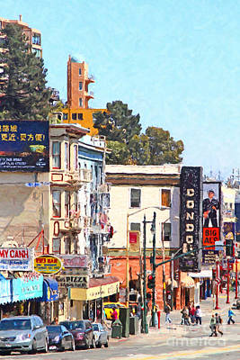 The Condor On Broadway And Columbus Street In San Francisco Poster by Wingsdomain Art and Photography