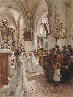 The Confirmation Poster by Leon Augustin Lhermitte